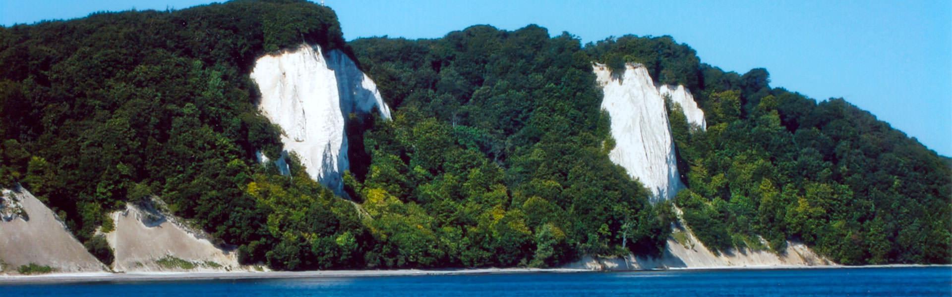 Koenigsstul und Kreidefelsen Ausblick von Seeseite