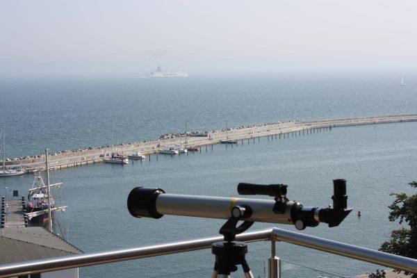 Rügen-Star Sassnitz Penthouse Blick auf den Hafen von Sassnitz
